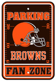 NFL Cleveland Browns Plastic Parking Sign - Fan Zone Wall Sign