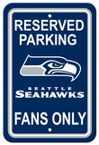 NFL Seattle Seahawks Plastic Parking Sign - Reserved Parking Wall Sign