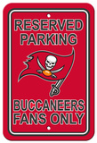 NFL Tampa Bay Buccaneers Plastic Parking Sign - Reserved Parking Wall Sign