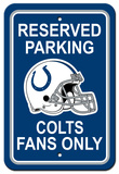 NFL Indianapolis Colts Plastic Parking Sign - Reserved Parking Wall Sign
