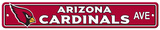 NFL Arizona Cardinals Plastic Street Sign Wall Sign