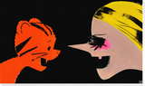 Tigers vs. Witches, 2012 Stretched Canvas Print by Ellen Berkenblit