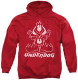 Hoodie: Underdog - Outline Under Pullover Hoodie