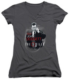 Juniors: The X Files - Doggett V-Neck T-Shirt