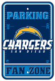 NFL San Diego Chargers Plastic Parking Sign - Fan Zone Wall Sign