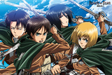 Attack on Titan - Four Swords Poster