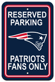 NFL New England Patriots Plastic Parking Sign - Reserved Parking Wall Sign