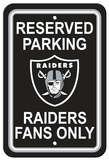 NFL Oakland Raiders Plastic Parking Sign - Reserved Parking Wall Sign