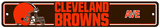 NFL Cleveland Browns Plastic Street Sign Wall Sign