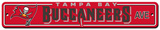 NFL Tampa Bay Buccaneers Plastic Street Sign Wall Sign