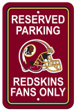 NFL Washington Redskins Plastic Parking Sign - Reserved Parking Wall Sign