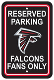 NFL Atlanta Falcons Plastic Parking Sign - Reserved Parking Wall Sign