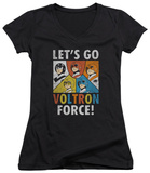 Juniors: Voltron - Force V-Neck T-shirts