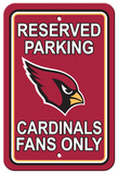 NFL Arizona Cardinals Plastic Parking Sign - Reserved Parking Wall Sign