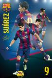 Barcelona - Suarez Collage 14/15 Posters