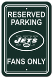NFL New York Jets Plastic Parking Sign - Reserved Parking Wall Sign