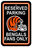 NFL Cincinnati Bengals Plastic Parking Sign - Reserved Parking Wall Sign