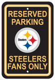 NFL Pittsburgh Steelers Plastic Parking Sign - Reserved Parking Cartel de pared