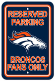 NFL Denver Broncos Plastic Parking Sign - Reserved Parking Wall Sign