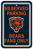 NFL Chicago Bears Plastic Parking Sign - Reserved Parking Wall Sign