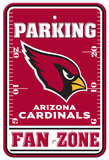 NFL Arizona Cardinals Plastic Parking Sign - Fan Zone Wall Sign