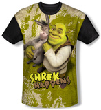 Shrek - Best Friends (black back) Sublimated