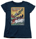 Womens: Rocky & Bullwinkle - Vintage Poster T-shirts