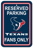 NFL Houston Texans Plastic Parking Sign - Reserved Parking Wall Sign