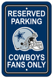 NFL Dallas Cowboys Plastic Parking Sign - Reserved Parking Wall Sign