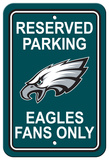NFL Philadelphia Eagles Plastic Parking Sign - Reserved Parking Wall Sign