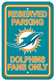 NFL Miami Dolphins Plastic Parking Sign - Reserved Parking Wall Sign