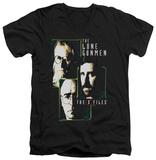 The X Files - Lone Gunmen V-neck Shirts