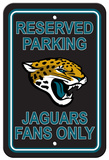 NFL Jacksonville Jaguars Plastic Parking Sign - Reserved Parking Wall Sign