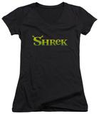 Juniors: Shrek - Logo V-Neck Shirt