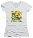 Juniors: Shrek - Ogres Need Love V-Neck T-shirts