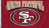 NFL San Francisco 49ers Faithful Flag with Grommets Flag