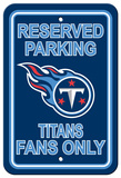 NFL Tennessee Titans Plastic Parking Sign - Reserved Parking Wall Sign