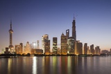 Pudong District Skyline, Shanghai, China Photographic Print by Paul Souders