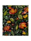 Haitian Garden Textile Giclée-Druck von Kim Parker