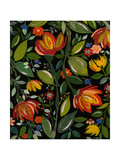 Haitian Garden Textile Giclee Print by Kim Parker