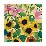 Sunflowers and Pink Lilies Reproduction procédé giclée par Kim Parker