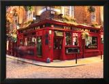 Der Temple Bar Club Gerahmter Fotografie-Druck von Eoin Clarke
