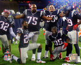 The New England Patriots celebrate 2014 AFC Championship Game Photo