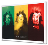 Bob Marley - 3 Pics Custom Stretched Canvas Print