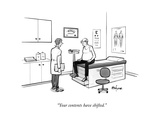 """Your contents have shifted."" - New Yorker Cartoon Premium Giclee Print by Kaamran Hafeez"