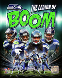 Seattle Seahawks The Legion of Boom Composite - Earl Thomas, Richard Sherman, Kam Chancellor, Byron Photo