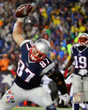 Rob Gronkowski Touchdown celebration 2014 AFC Championship Game Photo