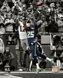 Richard Sherman Interception 2014 NFC Championship Game Spotlight Photo