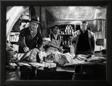 Jean Gabin, Bourvil and Louis De Funès: Mustaa lihaa Pariisissa, 1956 Kehystetty valokuvavedos tekijänä  Limot