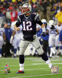 Tom Brady Touchdown celebration 2014 AFC Championship Game Photo